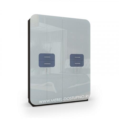 Модерн-16 глянцевый шкаф распашной с закругленными углами
