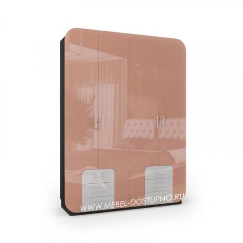 Модерн-18 глянцевый шкаф распашной с закругленными углами