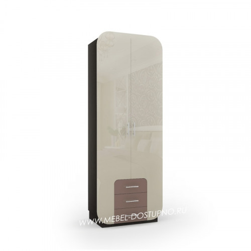 Модерн-5 глянцевый шкаф распашной с закругленными углами
