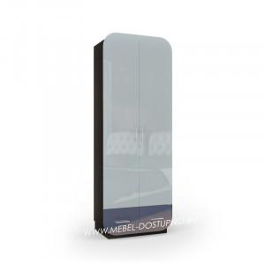 Модерн-7 глянцевый шкаф распашной с закругленными углами
