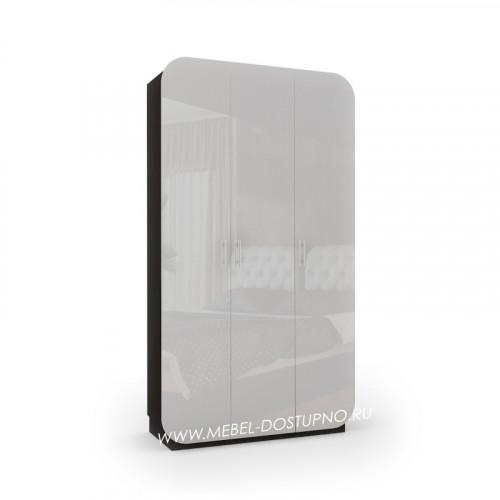 Модерн-8 глянцевый шкаф распашной с закругленными углами