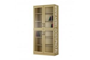 Шкаф для книг Библиограф-2  (двухдверная библиотека со стеклом)