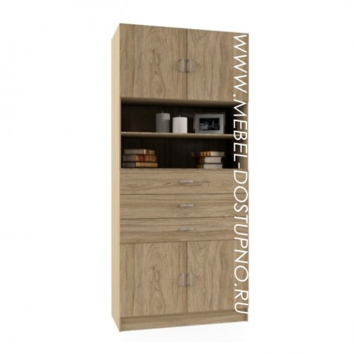 Гала 1Т книжный шкаф (библиотека, стеллаж)