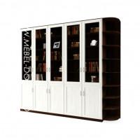 Гала 5.5У книжный шкаф (библиотека, стеллаж)