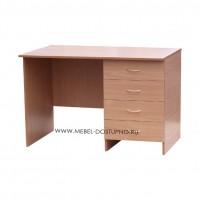Офисный стол с ящиками Бизнес-1 (письменный)