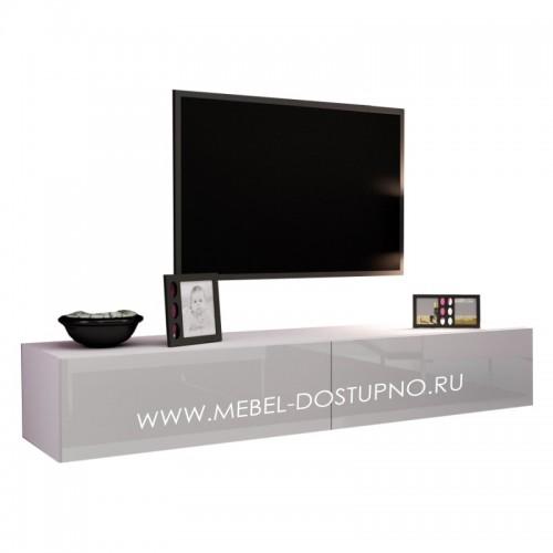 Тумба под телевизор Моника-1 (прямоугольная глянцевая подвесная)